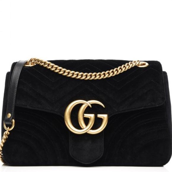 a60cb288b9c Gucci GG Marmont Medium Velvet Shoulder Bag
